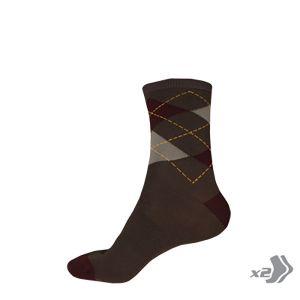 Endura Argyll Sock (Twin Pack) - (Burgundy)
