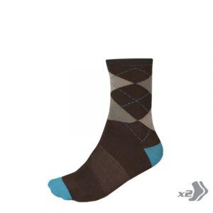Endura Argyll Sock (Twin Pack) - (Ultramarine)