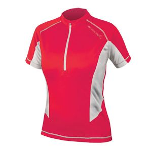 Endura Womens Pulse Short Sleeve Jersey - (Coral)