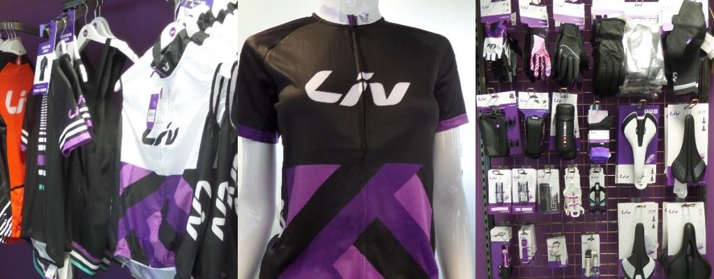 Liv Clothing at Dales Cycles Glasgow