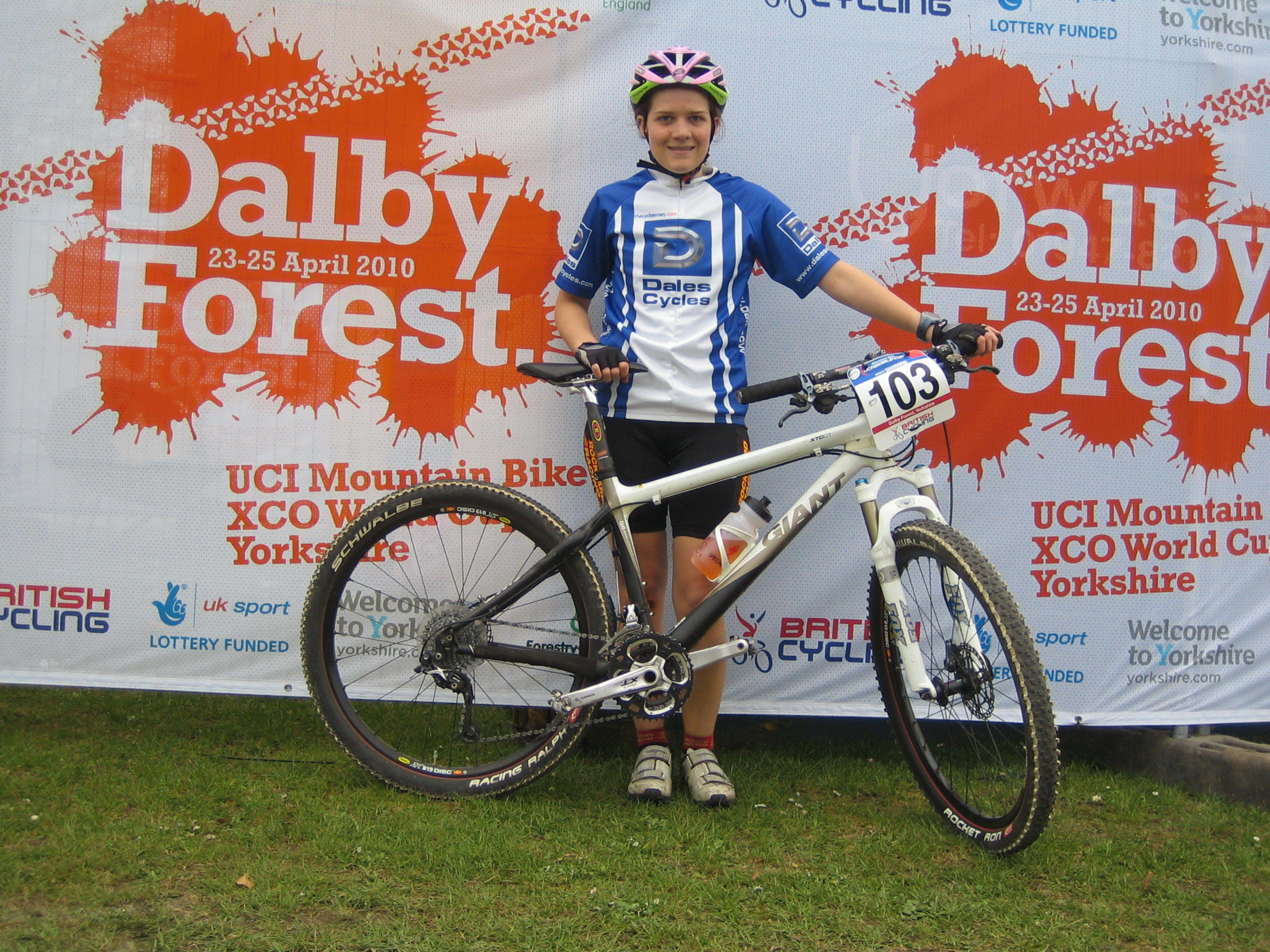 Morven riding at Dalby Forrest
